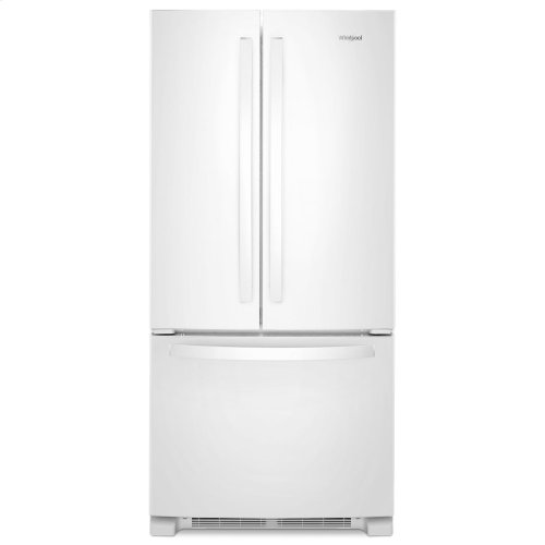 33-inch Wide French Door Refrigerator - 22 cu. ft. White