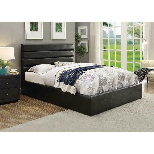 Riverbend Casual Black Queen Storage Bed