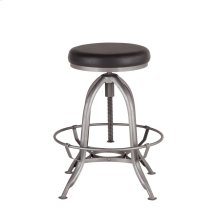 "Steel City Adjusting Stool 22"" Black"