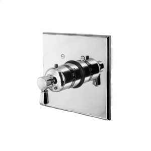 Forever Brass - PVD Square Thermostatic Trim Plate with Handle Product Image