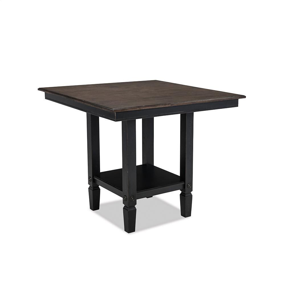 Glennwood Counter Table  Black & Charcoal