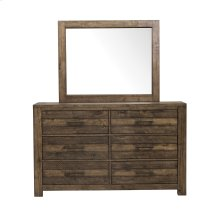 Dresser with Six Drawers and Distressed Fiinsh