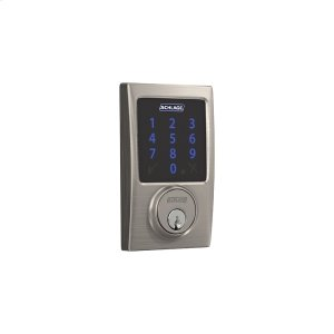 Schlage Connect Smart Deadbolt with alarm with Century trim, Z-wave enabled - Satin Nickel Product Image