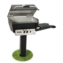 Deluxe Series - H3-PK2N Deluxe Grill Package with 48-Inch In-Ground Post (Natural Gas Only)