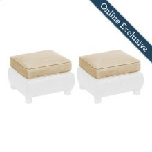 Breckenridge Ottoman Replacement Cushion (Set of 2), Natural Tan