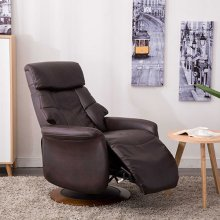 Oscar Recliner in Espresso Breathable Air Leather
