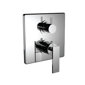"""7096em-tm - Trim (shared Function) 1/2"""" Thermostatic Trim With 2-way Diverter in Polished Chrome"""