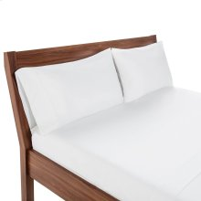 Weekender Hotel Fitted Sheet, Queen, White