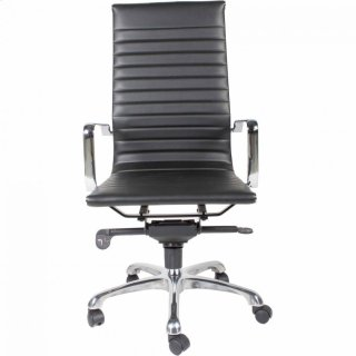Omega Swivel Office Chair High Back Black