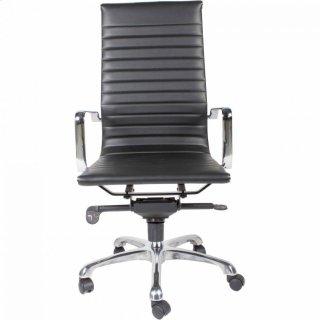 Omega Swivel Office Chair High Back Black