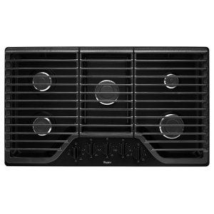 36 inch 5 Burner Gas Cooktop with Fifth Burner Product Image