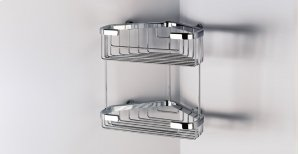 Chrome Wire Basket, Double Corner Product Image
