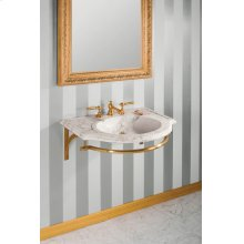 Petite Renaissance Wall Brackets With Towel Bar / Brass