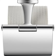Toilet Paper Holder With Cover, Chrome