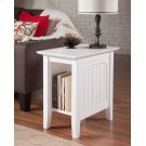 Nantucket Chair Side Table White Product Image