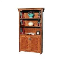 "Mission Oak 24"" & 36"" 2-Door Bookcase"