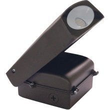 20W LED Adjustable Wall Pack Fixture - Bronze Finish - With Photo Cell