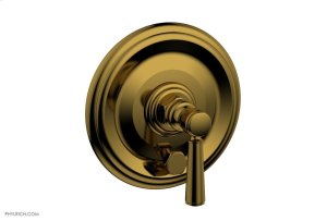 HEX TRADITIONAL Pressure Balance Shower Plate with Diverter and Handle Trim Set 4-096 - French Brass Product Image