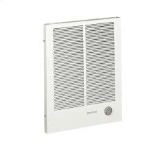 Wall Heater, High Capacity, White, 1500/3000W 240VAC, 1125/2250W 208VAC.