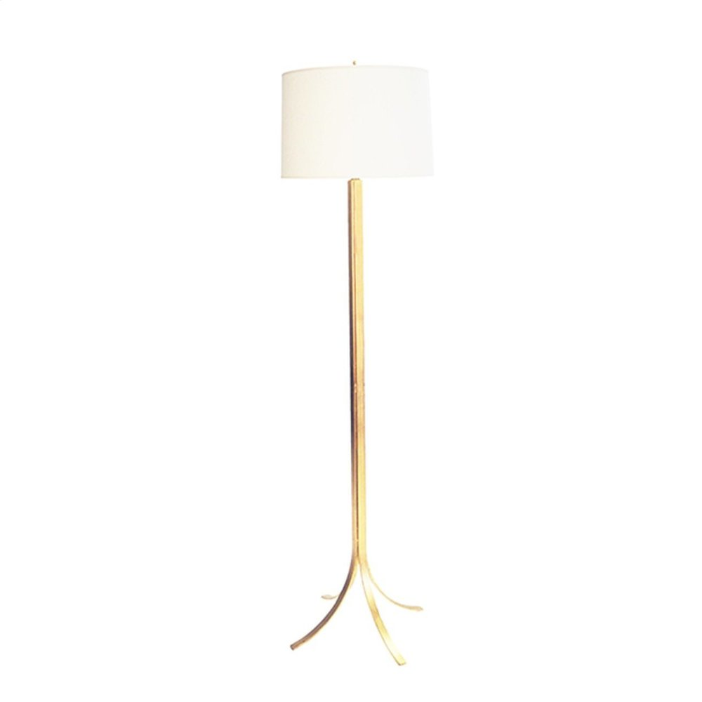 Modern Iron Floor Lamp With Gold Leaf Finish