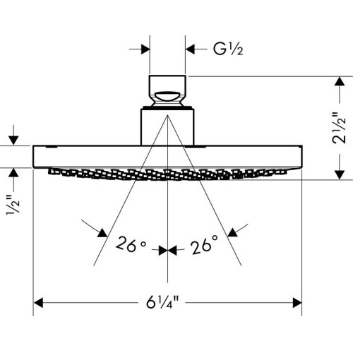 Brushed Nickel Showerhead 160 1-Jet, 2.0 GPM