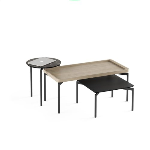 1736 Round End Table BDI in Ferrous