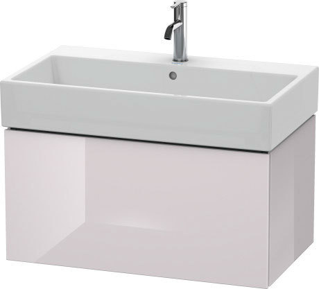Vanity Unit Wall-mounted, White Lilac High Gloss (lacquer)