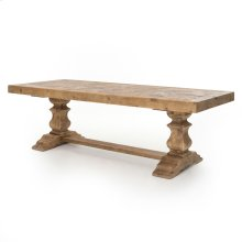 """Castle 98"""" Dining Table-bleached Pine"""