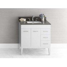 """Venus 31"""" Bathroom Vanity Base Cabinet in Dark Cherry - Doors on Left, Wood Legs"""