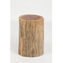 Global Archive Hardwood Stump Accent Table
