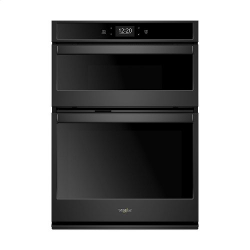 6.4 cu. ft. Smart Combination Wall Oven with Touchscreen Black