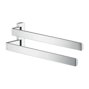 Chrome Towel holder twin-handle Product Image