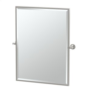 Tavern Framed Rectangle Mirror in Satin Nickel Product Image