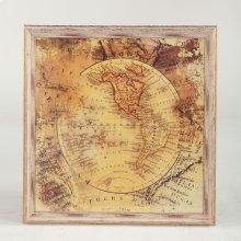 Peinture World Map Art Photo - The Americas