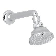 "Polished Chrome 3 1/16"" Perletto Anti-Cal Showerhead With 7 1/8"" Shower Arm"