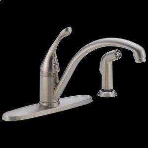 Stainless Single Handle Water-Efficient Kitchen Faucet with Spray Product Image