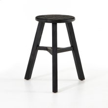 Black Finish Hattie Round Accent Stool