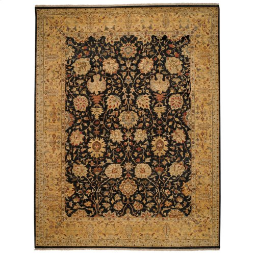 Lodi Garden-Mahal Black Gold Hand Knotted Rugs