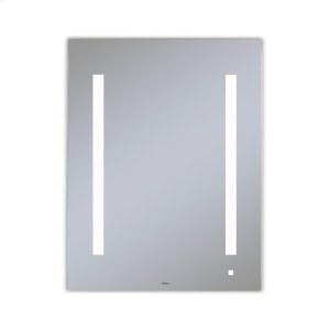 """Aio 23-1/8"""" X 29-7/8"""" X 1-1/2"""" Lighted Mirror With Lum Lighting At 4000 Kelvin Temperature (cool Light), Dimmable, Usb Charging Ports and Om Audio Product Image"""