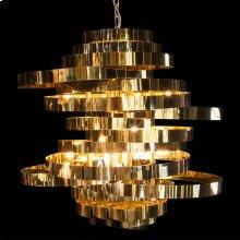 Hemispheres 8 Light Chandelier Gold