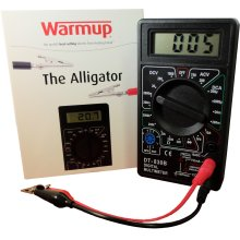 The Warmup ALLIGATOR is an ohmmeter with connectors that clip straight to the heating cable. The device constantly monitors the heating cables during installation and gives you the readings you need to complete the warranty and ensure a safe installation.