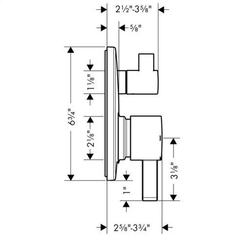 Chrome Pressure Balance Trim S with Diverter