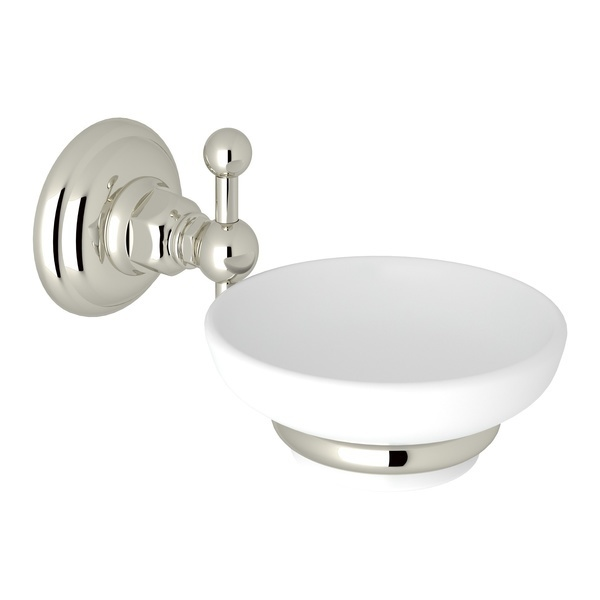Polished Nickel Italian Bath Wall Mount Soap Dish