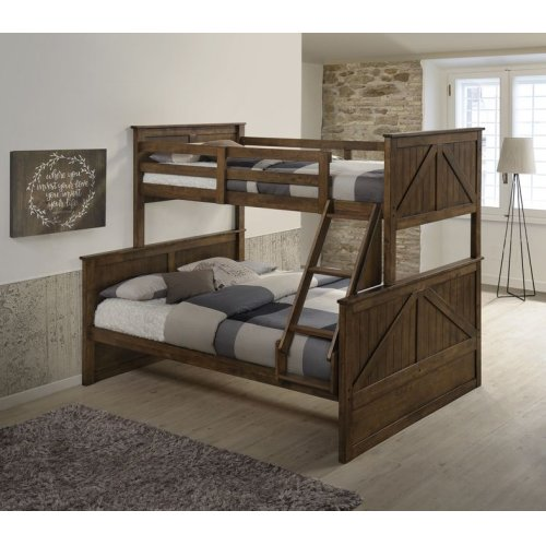 3015 Ashland Youth Twin/Full Bunk Bed Brown
