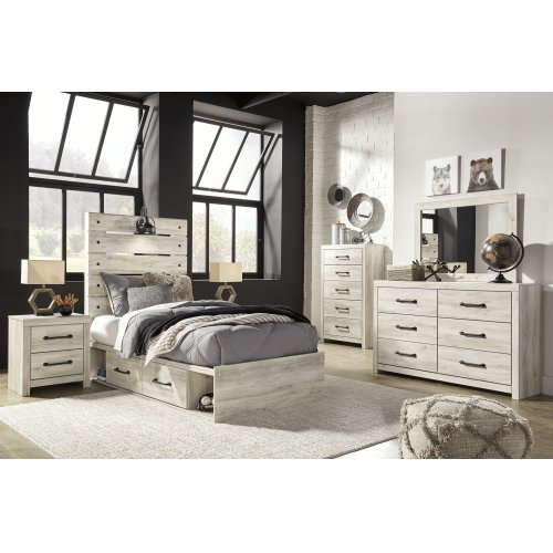 Cambeck - Whitewash 4 Piece Bed Set (Twin)