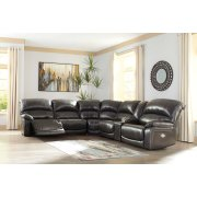 Hallstrung - Gray 5 Piece Sectional Product Image