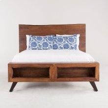 London Loft Bed Queen Walnut