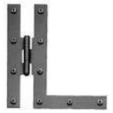 H and L Hinge - Smooth Iron