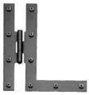 H and L Hinge - Smooth Iron Product Image