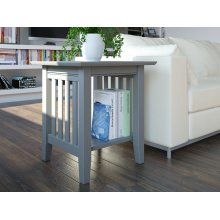 Mission End Table Atlantic Grey